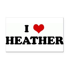 I Love HEATHER Rectangle Car Magnet