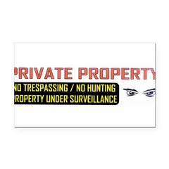 3 x 10 No Trespassing Decal Rectangle Car Magnet