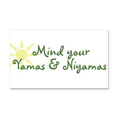 YogaMoxie Rectangle Car Magnet