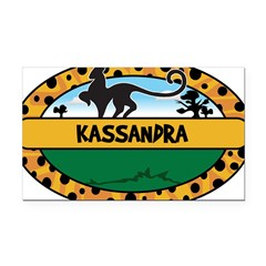 KASSANDRA - safari Rectangle Car Magnet