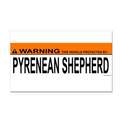 PYRENEAN SHEPHERD Rectangle Car Magnet