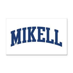 MIKELL design (blue) Rectangle Car Magnet