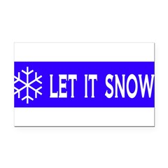Think Snow Rectangle Car Magnet
