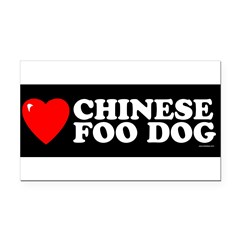 CHINESE FOO DOG Rectangle Car Magnet