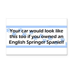 Your Car English Springer Spaniel Rectangle Car Magnet