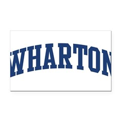 WHARTON design (blue) Rectangle Car Magnet