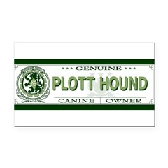 PLOTT HOUND Rectangle Car Magnet