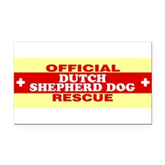 DUTCH SHEPHERD DOG Rectangle Car Magnet