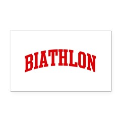 Biathlon (red curve) Rectangle Car Magnet