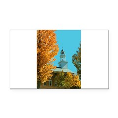 Vermont Country Church Rectangle Car Magnet