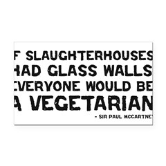 if slaughterhouses... Rectangle Car Magnet