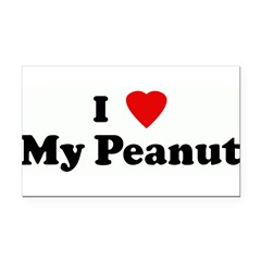 I Love My Peanut Rectangle Car Magnet