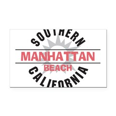 Manhattan Beach CA Rectangle Car Magnet