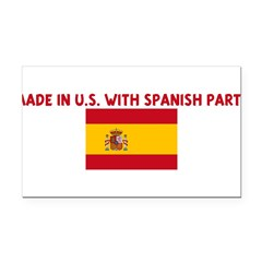 MADE IN US WITH SPANISH PARTS Rectangle Car Magnet