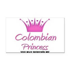 Colombian Princess Rectangle Car Magnet
