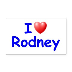 I Love Rodney (Blue) Rectangle Car Magnet