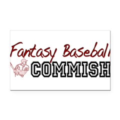 Fantasy Baseball Commish Rectangle Car Magnet