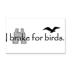 birding Rectangle Car Magnet