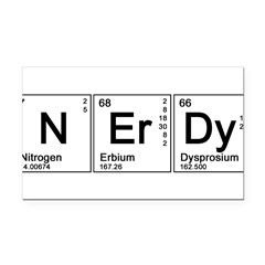 Periodic Nerd Rectangle Car Magnet