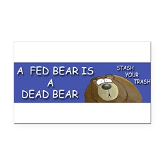 BEAR Rectangle Car Magnet