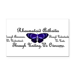 Butterfly Awareness 1 (Rheumatoid Arthritis) Rectangle Car Magnet