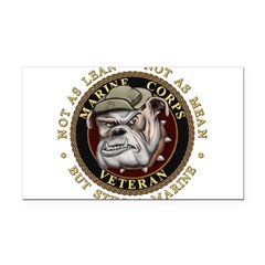 Devil Dog Vet Rectangle Car Magnet