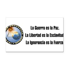 La Guerra es la Paz. Rectangle Car Magnet