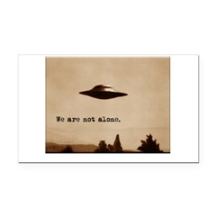 X-Files - We Are Not Alone Rectangle Car Magnet
