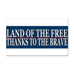 Patriotic - American Veteran Rectangle Car Magnet