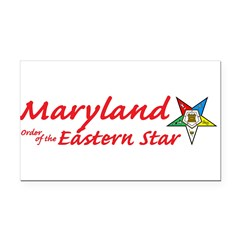 Maryland Eastern Star Rectangle Car Magnet
