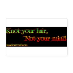 Not your mind Rectangle Car Magnet
