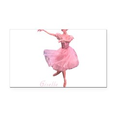 Giselle Ballet Oval Rectangle Car Magnet