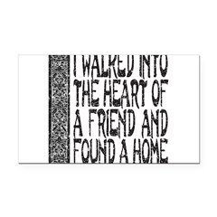 HEART OF A FRIEND Rectangle Car Magnet