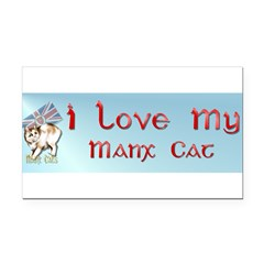 Manx Cats Rectangle Car Magnet