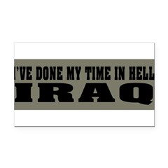 Iraq-Hell Rectangle Car Magnet