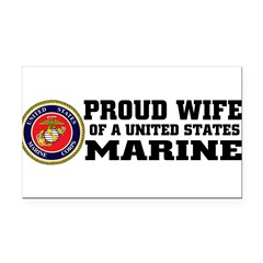 Marine Proud Wife Rectangle Car Magnet
