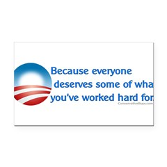 Anti-Obama Because Rectangle Car Magnet
