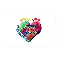 Peace Love Togetherness Rectangle Car Magnet