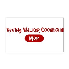 Treeing Walker Coonhound mom Rectangle Car Magnet