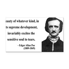 Edgar Allan Poe 11 Rectangle Car Magnet