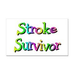Stroke Survivor Rectangle Car Magnet