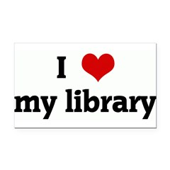 I Love my library Rectangle Car Magnet