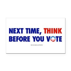 """Think 2012"" Rectangle Car Magnet"
