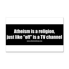 Atheism TV Rectangle Car Magnet