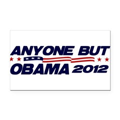 Anyone But Obama Rectangle Car Magnet