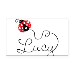 Ladybug Lucy Rectangle Car Magnet