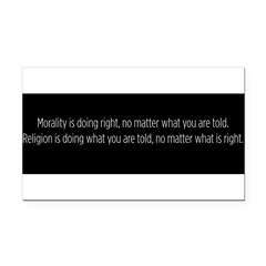 Morality Religion Rectangle Car Magnet