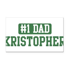 Number 1 Dad - Kristopher Rectangle Car Magnet