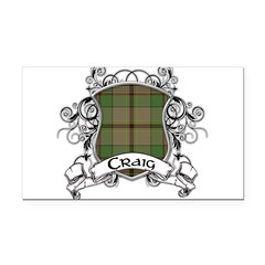 Craig Tartan Shield Rectangle Car Magnet