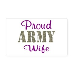 Army Purple Home/Office Rectangle Car Magnet
